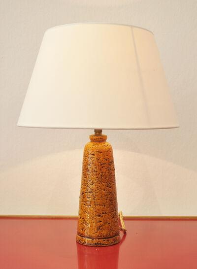 Gunnar Nylund, 'Table lamp in yellow glazed ceramic', ca. 1940