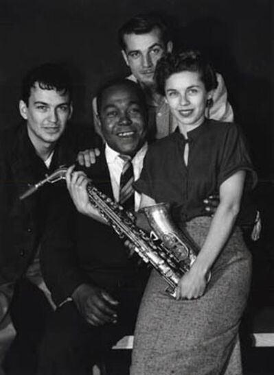"""William Claxton, 'Charlie """"Bird"""" Parker and his fans, Pasadena, 1952 '"""