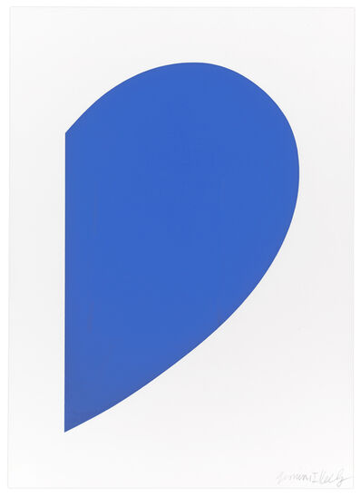 Ellsworth Kelly, 'Small Blue Curve', 2012