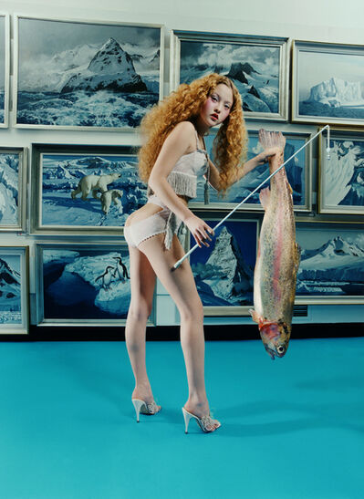 David LaChapelle, 'Fish Stick: Devon Aoki in Agent Provocateur, London', 1998