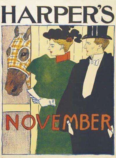 Edward Penfield, 'Harper's November', 1895