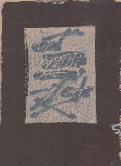 Antoni Tàpies, 'Llambrec material XVII', 1970-1980