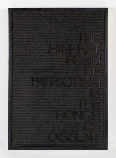 Maynard Monrow, 'Untitled / Patriotism Dissent', 2018