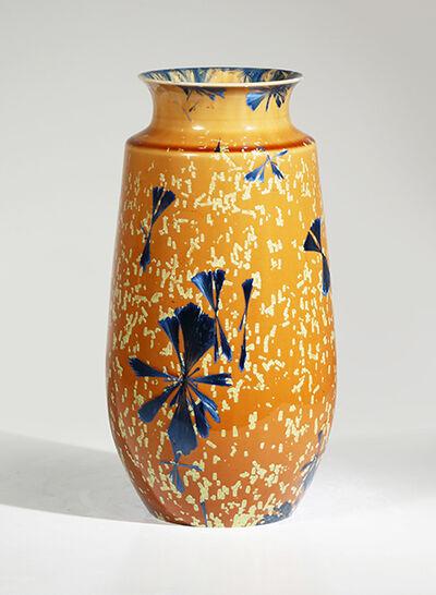Hongwei Li, 'Gourd vase, splash peacock blue microcrystalline glaze', 2017