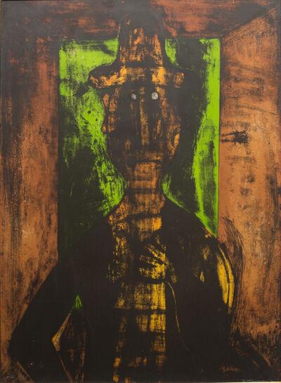 Rufino Tamayo, 'Hombre en Fondo Verde HC', 1980