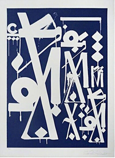 "RETNA, 'Untitled Blue Silkscreen (from ""Provocateurs"" for the Chicago Art Alliance)', 2014"