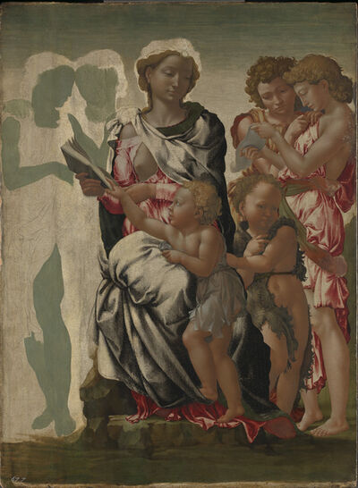 Michelangelo Buonarroti, 'The Virgin and Child with Saint John and Angels ('The Manchester Madonna')', ca. 1497