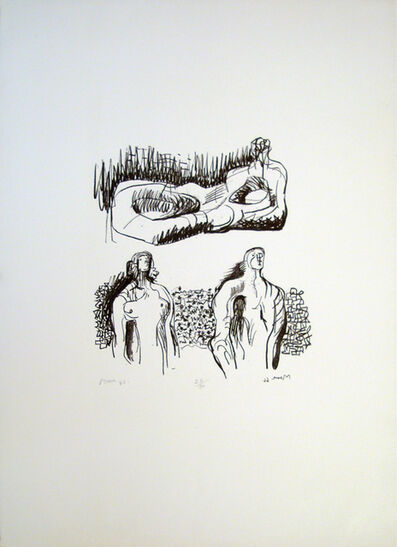 Henry Moore, 'Reclining Figure and Torsos', 1966