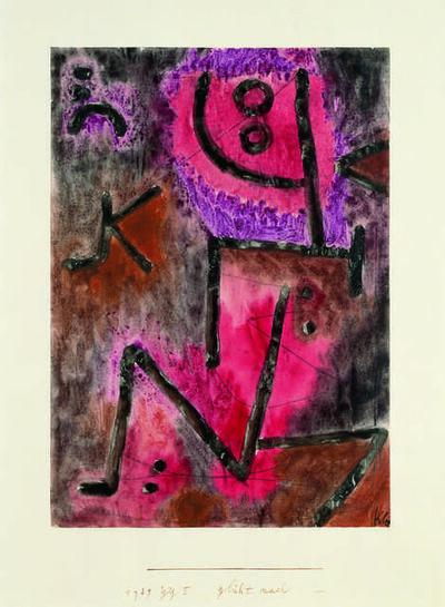 Paul Klee, 'glüht nach (Still Glows)', 1939