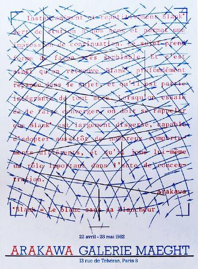 Shusaku Arakawa, 'Arakawa at Galerie Maeght', 1982