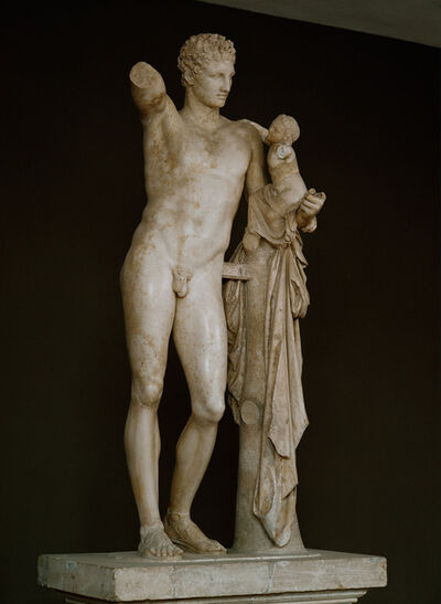 Praxiteles, 'Hermes with infant Dionysos on his arm', ca. 330 BCE
