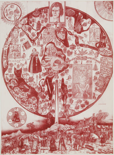 Grayson Perry, 'A Map of Nowhere (red)', 2008