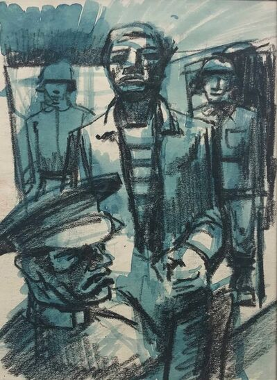 John Wilson, 'Interrogation (Study for Lithograph)', 1944