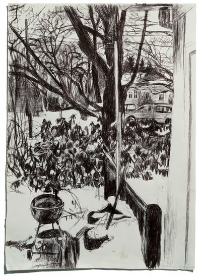 Stanley Lewis, 'Looking Out Window, Snow and Grill', 2008