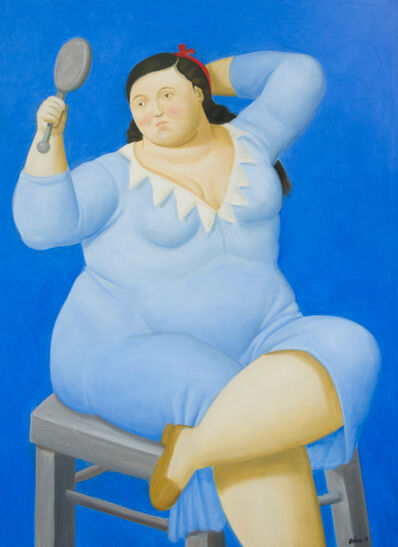 Fernando Botero, 'Woman with Mirror', 2017