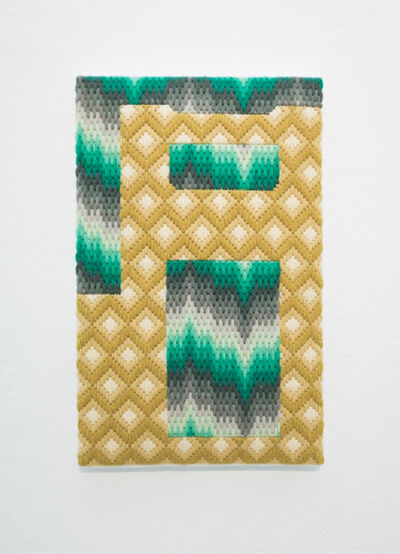 Cecilia Charlton, 'Contemplating my own life and death [bargello], IV', 2017