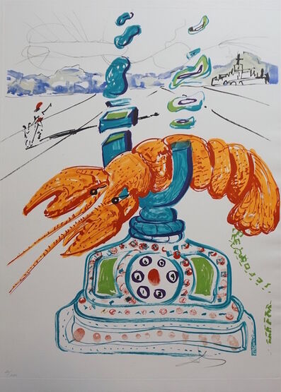 Salvador Dalí, 'Imaginations & Objects of The Future Cybernetic Lobster Telephone', 1975