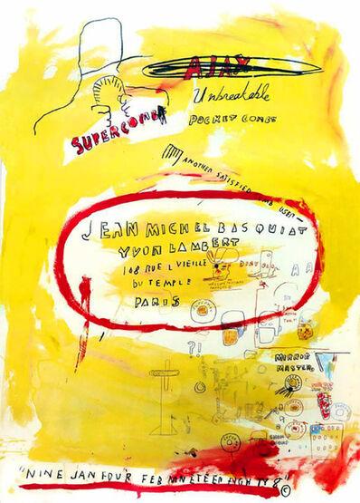 Jean-Michel Basquiat, 'Basquiat Supercomb', 1988
