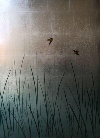 Carolyn Reynolds, 'Hummingbirds Over Reeds IV', 2017