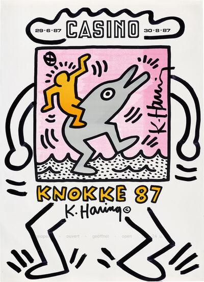 Keith Haring, 'KNOKKE Casino Poster', 1987