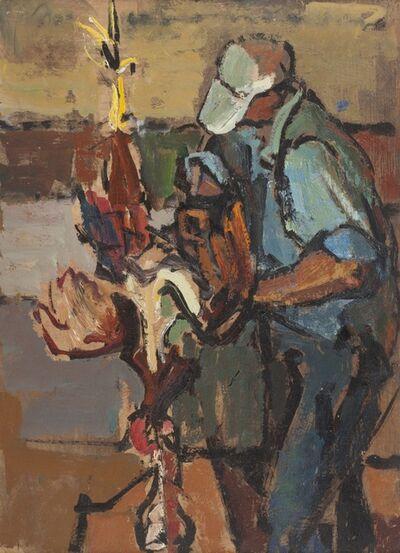 Herbert Barnett, 'Dressing a Fowl [Princeton, MA]', ca. 1949