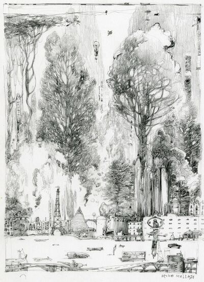Mallart Bruno, 'La Grande Clairière, dessin préparatoire ', 2019