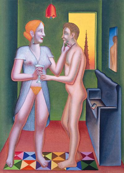 Konrad Klapheck, 'Le verre de rouge / Das Glas Rotwein', 2005