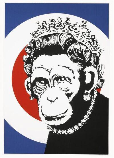 Banksy, 'Monkey Queen (signed)', 2003