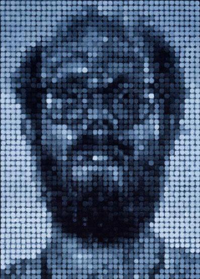 Chuck Close, 'Self-Portrait/Spitbite/White on Black', 1997