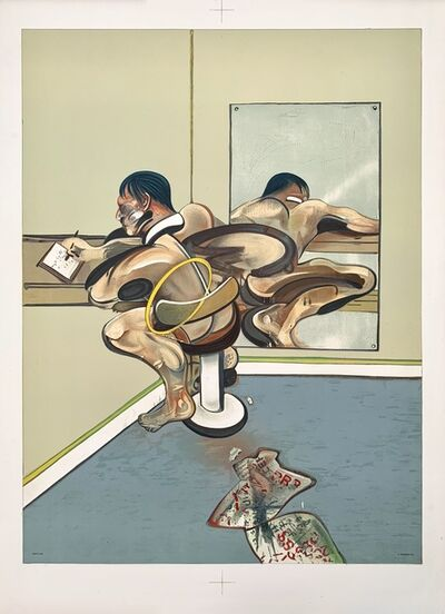 Francis Bacon, 'Figure writing reflected in a mirror', 1977