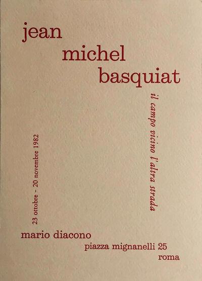Jean-Michel Basquiat, 'Basquiat 1982 Rome Announcement', 1982