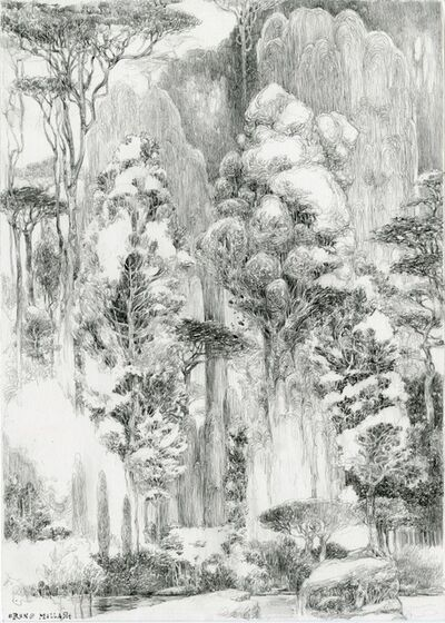 Mallart Bruno, 'La Forêt vierge sur le rocher, dessin préparatoire ', 2019