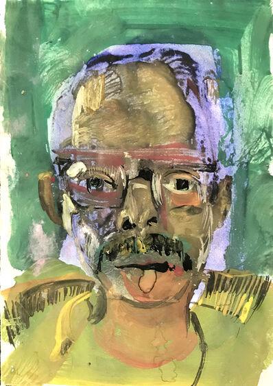 Ted Diamond, 'Untitled (Self Portrait Green Background)', ca. 1970-1985