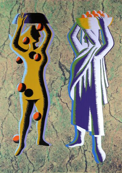 Mark Kostabi, 'Two Cultures (Green)', ca. 1985