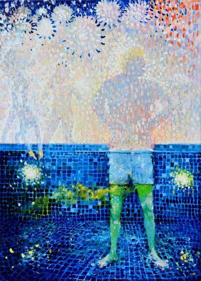 Serge Nyfeler, 'Donald in the pool', 2016