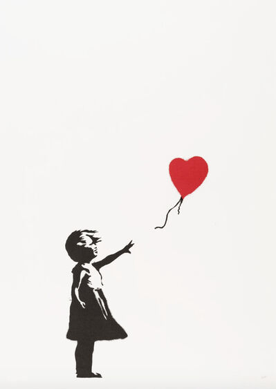 Banksy, 'Girl With Balloon - Unsigned', 2004