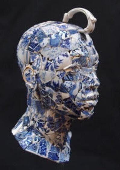 Cathy Lewis, 'Re-set Teaset Blue & White head', 2017