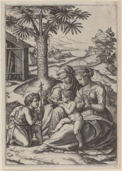 Marcantonio Raimondi after Raphael, 'Madonna under a Palm Tree'