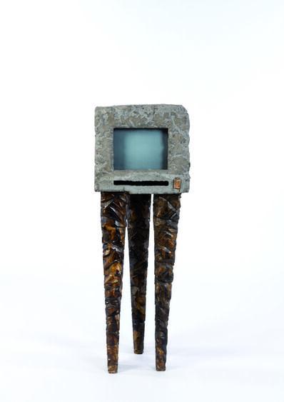 Alex Locadia, 'TV in concrete, fiber and iron', vers 1980