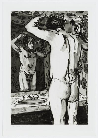 Mike Glier, 'Men at Home: Grooming', 1985