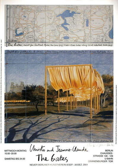 Christo, 'The Gates Project for Central Park New York (signed)', 2001