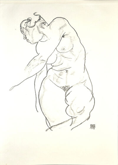 Egon Schiele, 'Female Nude', 1920
