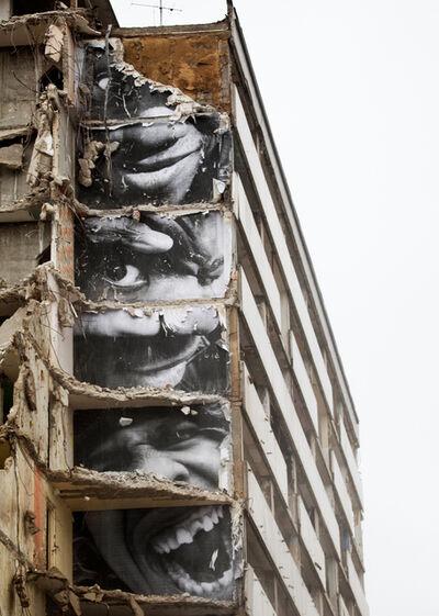 JR, '28 Millimètres, Portrait d'une génération, B11, Destruction #9, Montfermeil, France, 2013', 2013