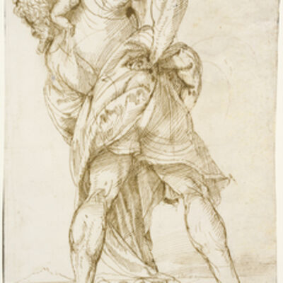 Domenico Campagnola, 'Saint Christopher', 1520-1525
