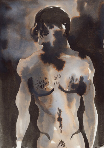 Gill Button, 'Untitled - Series Sketchy Men', 2015