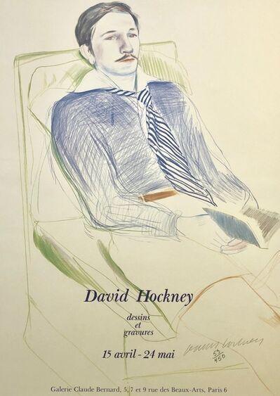 David Hockney, 'Signed David Hockney Dessins et Gravures Poster', 1975