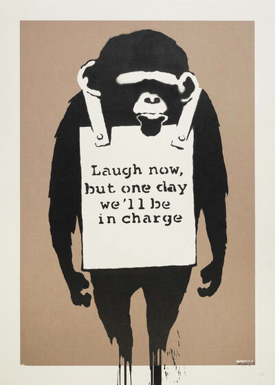 Banksy, 'Laugh Now - Signed ', 2003