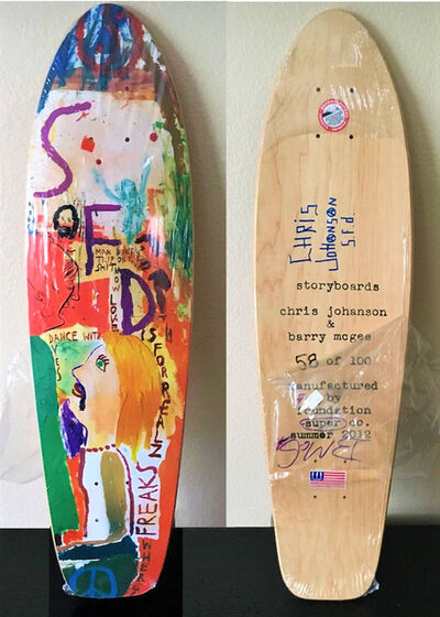 "Barry McGee, '""And Your Friends Are My Friends"", SIGNED by BOTH ARTISTS, Wood Skate Deck Edition', 2012"