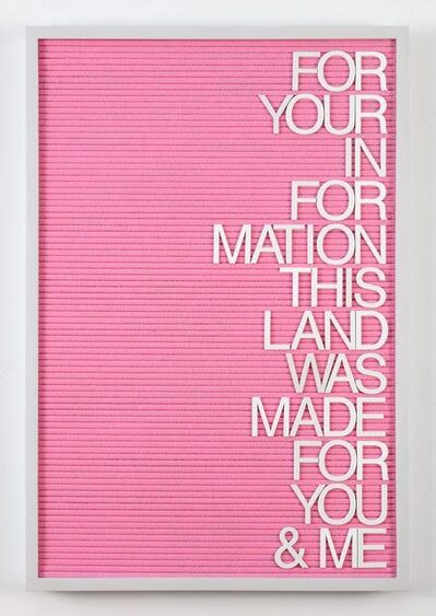 Maynard Monrow, 'Untitled / For You & Me (Grey/Pink)', 2017