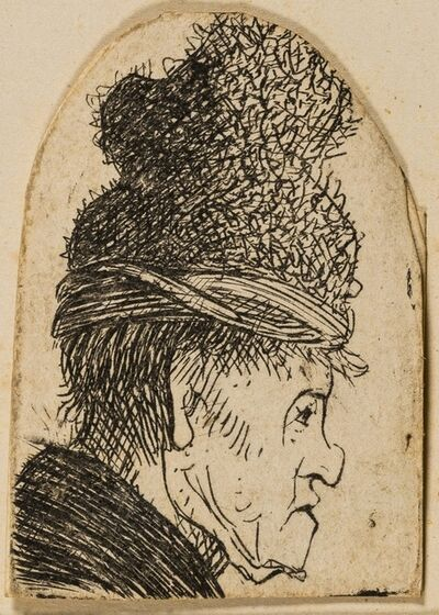 Rembrandt van Rijn, 'Grotesque Profile'